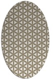 rug #757257 | oval white circles rug