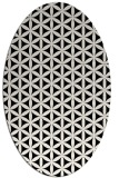 rug #757261 | oval black circles rug