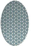 rug #757281   oval white geometry rug