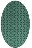 rug #757313 | oval blue-green circles rug