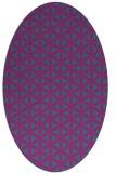 rug #757321 | oval pink popular rug
