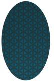 rug #757337 | oval blue-green circles rug