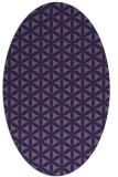 rug #757354 | oval circles rug
