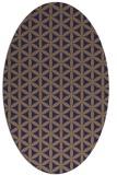rug #757365   oval blue-violet rug