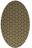rug #757377 | oval mid-brown rug