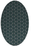 rug #757385 | oval blue-green circles rug