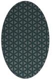 rug #757385 | oval green circles rug