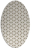 rug #757397 | oval white geometry rug