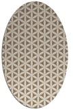 rug #757409   oval beige circles rug
