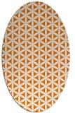 rug #757449   oval orange circles rug