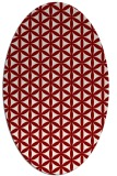 rug #757452 | oval circles rug