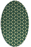 rug #757461 | oval blue-green circles rug