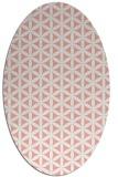 rug #757477 | oval pink geometry rug
