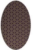 rug #757489   oval purple popular rug