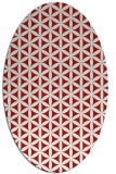 rug #757505   oval red circles rug