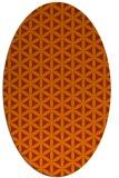 rug #757513 | oval red-orange rug