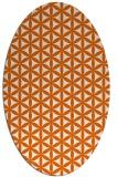 rug #757525 | oval red-orange circles rug