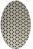 rug #757565 | oval black circles rug