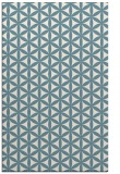 rug #757633 |  blue-green circles rug