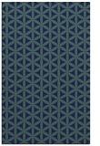 rug #757641 |  blue circles rug