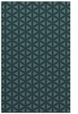 rug #757681 |  blue-green circles rug
