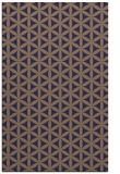 rug #757717 |  blue-violet geometry rug