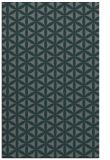 rug #757737 |  blue-green geometry rug