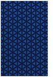 rug #757777 |  blue circles rug