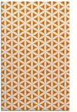 rug #757801 |  orange circles rug