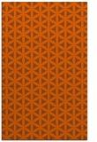 rug #757873 |  red-orange circles rug