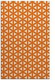 rug #757877 |  red-orange circles rug