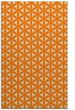 rug #757925 |  orange geometry rug