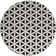 rug #757965   round black circles rug