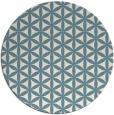rug #757985 | round white circles rug
