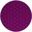 rug #757989 | round blue circles rug