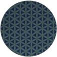 rug #757993 | round blue circles rug