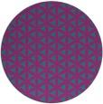 rug #758025   round blue-green circles rug
