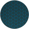 rug #758041 | round blue circles rug