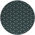 rug #758089 | round green circles rug