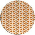 rug #758153 | round orange circles rug