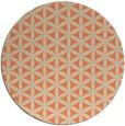 rug #758157 | round orange circles rug