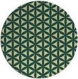 rug #758165 | round yellow circles rug