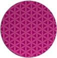 rug #758169 | round pink rug