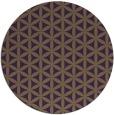 rug #758193 | round mid-brown circles rug