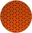 rug #758205 | round orange circles rug