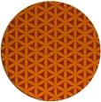 rug #758217 | round red-orange rug