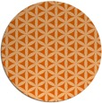 rug #758221 | round red-orange circles rug