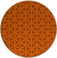 rug #758225 | round red-orange circles rug