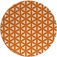 rug #758229 | round red-orange circles rug