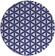 rug #758241 | round white circles rug